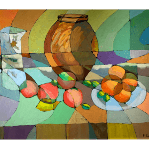 fruits and jugs