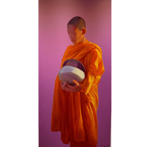 MONK WITH ALMS BOWL